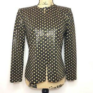 St. John Evening Sequin Embellished Blazer
